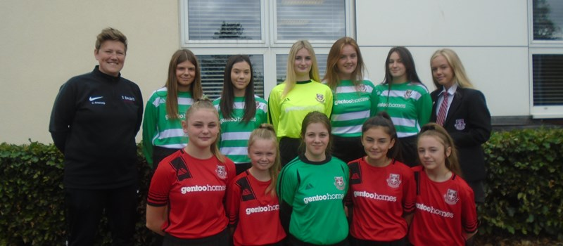 Gentoo Homes supports newly formed girls' football team
